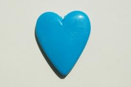 Kraal: groot blauw hart (AC-111-PH6)
