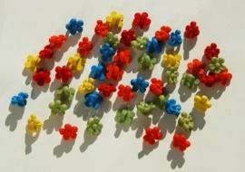 Knoopjeskralen in bloemvorm, gekleurde mix (AC-117_PH)