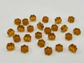 Amberkleurige bloemetjeskralen (K-018-PH)