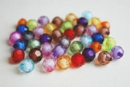 Facet acrylkralen in felle kleuren (AC-011-ZN)