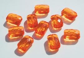 Platte rechthoek facetkralen in oranje (AC-088-PH)