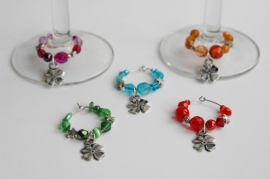 Winecharms met klavertjes vier (WCT-008)