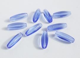 Langwerpige blauw transparante kralen (CB-043)