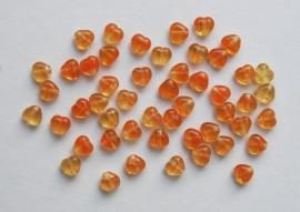Mini-hartjes in oranje-geel (CB-079)