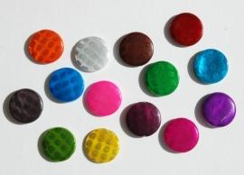 Kleurige mix van platte parelmoer schelpkralen (SMix)