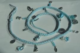 Wrap bracelet in lichtblauw (AB-018)