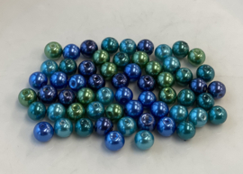 Parelmix in blauw- en groentinten, 8 mm (P-036)