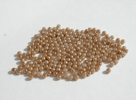Kleine pareltjes in bronze - donkerbeige (P-145)