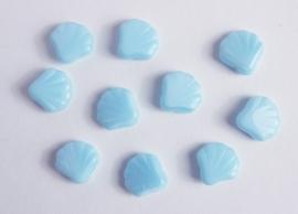 Lichtblauwe schelpjes, heel lief! (CB-042)