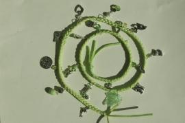 Wrap bracelet in lichtgroen (AB-019)