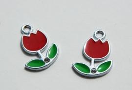 Bedels of hangers: Rode tulpjes, heel leuk!! (M-023)