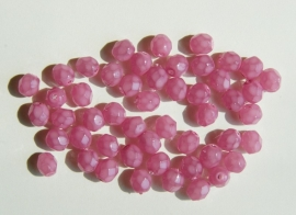 Rose facetkraaltjes in melkglas (F-015-CB)