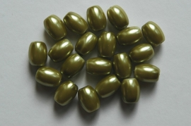 Ovaalvormige parels in bruin-groen goud (92BK)
