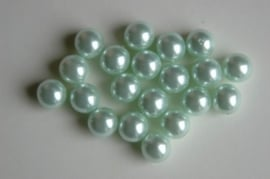 Zacht mint-groene parels 8 mm (P-007-CB)