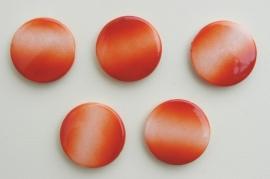 Grote platte schijfkralen met oranje kleurverloop (AC-082-PH)