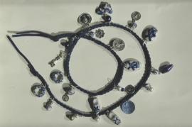 Wrap bracelet met Delfts Blauw (AB-017)