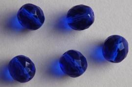 Diepblauwe facetkraal 12 mm (F-021-BH)