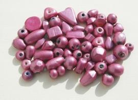 Amethystroze mix met metallicglans (BH-044-BK)