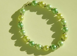 Armband in groen-nuances (AB-01)