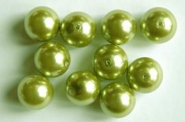 Grote lichtgroene parels 14 mm (P71BK)