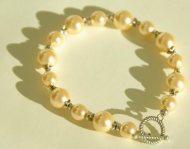 Parel-armband in champagne (AB-08)