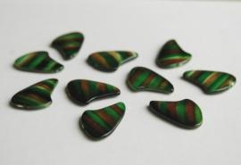 Haaientanden bruin-groen gestreept (AC-043-PH)