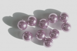 Lilagrijze glasparels 12 mm (P-129-BK)