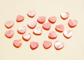 Hartjeskralen van zalmroze schelp (S-011-P6)
