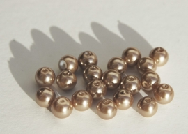 Parels in warm beige-bruin, 8 mm (P-137-KD)