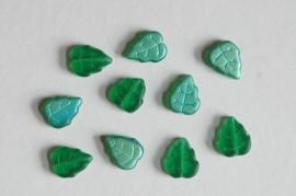 Groene blaadjes met matte aqua-groen achterkant (CB-053)