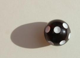 Zwart witte polka-dot (AC-028)