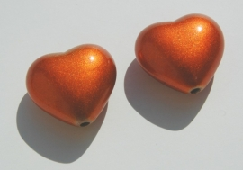 Oranje metallic harten (AC-089-PH)