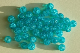 Crackles in aqua 8 mm (CR-004-ZN)