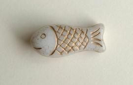 Wit met gouden visjes (CB-18)