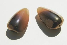 Grote bruine kralen met goud-dip (GK-017-PH)