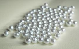 Spierwitte kunststof parels, 8 mm (P-172-TC)