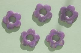 Lila / lichtpaarse bloemen met open hart (AC-057-PH)