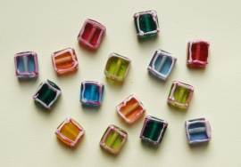 Multicolor Mix, handgemaakte kralen (BH-036-BK)
