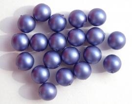 Paarsblauwe parels met aluminiumglans 8 mm (P-044-BH)