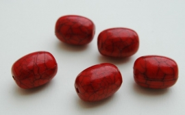 Groot rood tonvormig met grijze marmering (AC-083-PH)