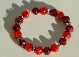 Armband in rood en bordeaux (AB-12-E)