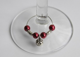 Parel-winecharms in rose-nuances en paars (WCD-005)