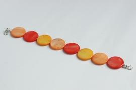 Zomertop: armband van parelmoer schelp in vrolijke kleuren (AB-020)