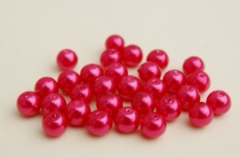 Glasparels in warm roze-rood, 8 mm (P-180-PH)