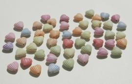 Hartjeskralen met streepjes, gekleurde mix (AC-109-PH6)