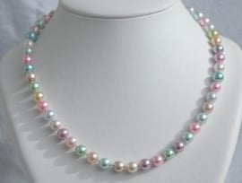 Parelketting in pasteltinten (PK-015)