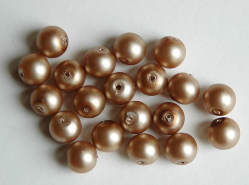 Gouden parels met satijnglans 8 mm (P81BK)