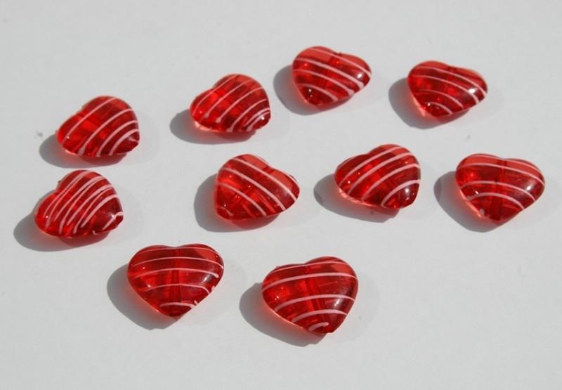 Rode harten met witte strepen (AC-033)