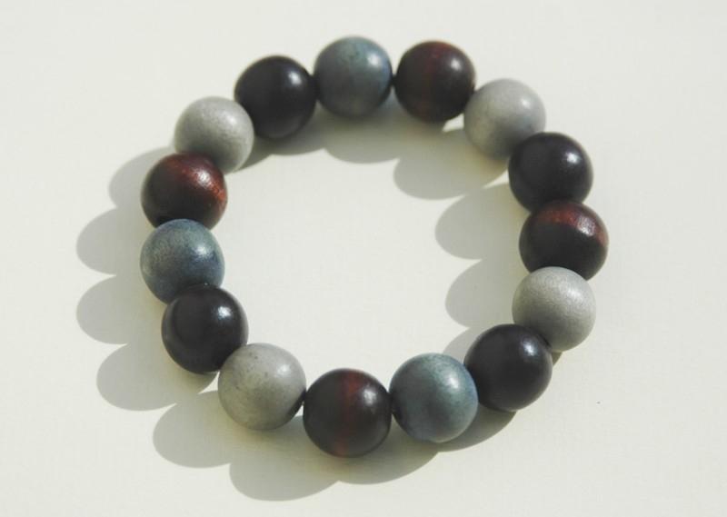 Armband in aardetinten , ook geschikt voor heren :-) (ABH010)