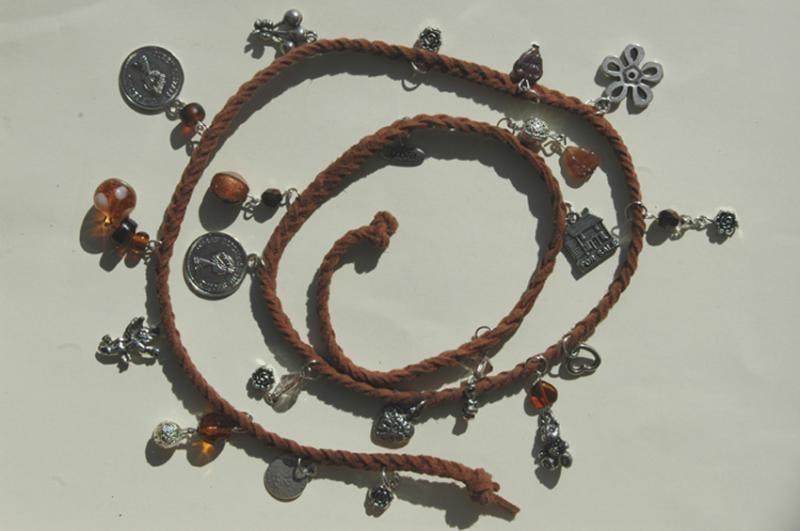 Wrap bracelet in bruin (AB-013)